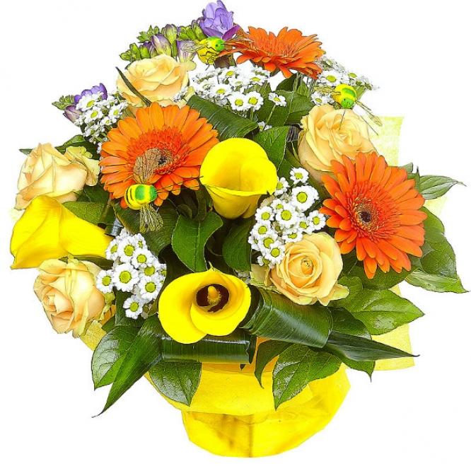 Бизнес букет цветы с доставкой желтые калы и розы экзотические купить комнатные цветы киров
