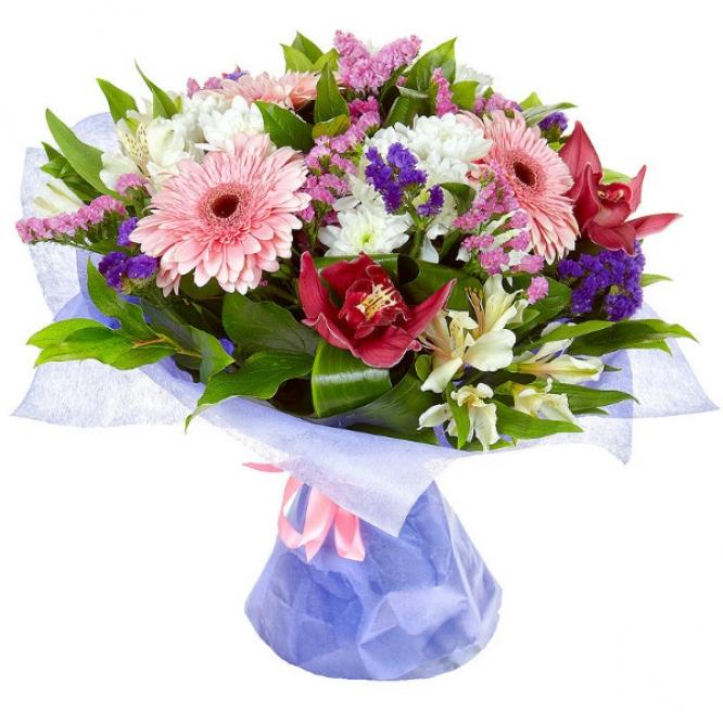 Герберы букет цветов