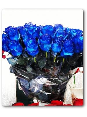 Магические =) синие розы (экстра класс, 80см) с доставкой по Киеву.