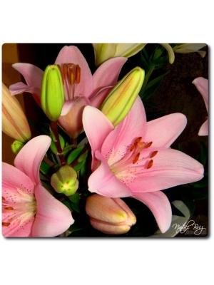 Поштучно ветка розовой лилии с доставкой №15
