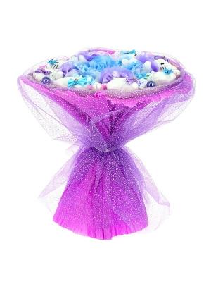 Фиолетовый букет из мягких игрушек хелло китти (8 штук h 8 см.)