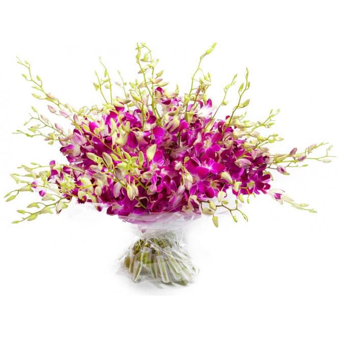 """Букет цветов из розовой орхидеи """"Дендробиум"""" (51 ветка) №51 с доставкой."""