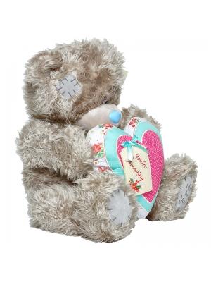 """Плюшевый мишка из сердцем """"Ты прекрасна"""" (44 см.)."""