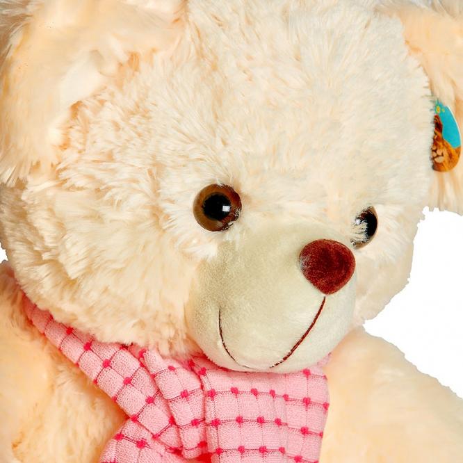 Плюшевый мишка с розовым шарфиком (35 см.).