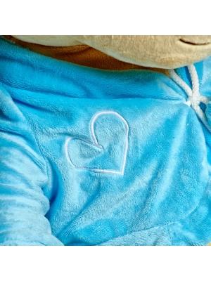 Плюшевый мишка в синей кофточке (60 см.).