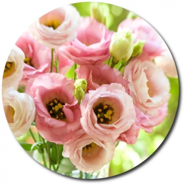 Поштучно ветка нежно-розовой эустомы с доставкой №34