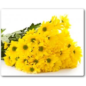 Поштучно ветка желтой хризантемы (экстра класс, 75 сантиметров) с доставкой №21