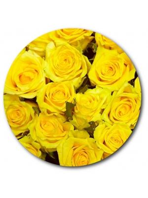 Поштучно желтая роза с доставкой №10