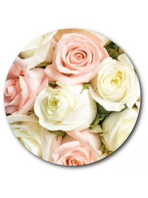 Поштучно белые и розовые розы с доставкой №26