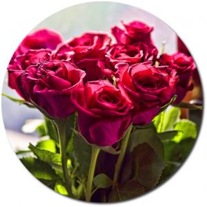 Поштучно пурпурные розы №1 с доставкой.