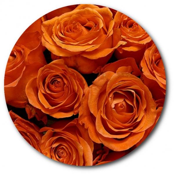 Поштучно рыжая роза с доставкой №3