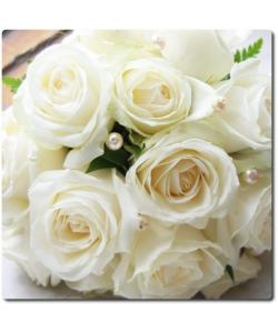 Поштучно белая роза (экстра класс, 70 сантиметров) с доставкой №1
