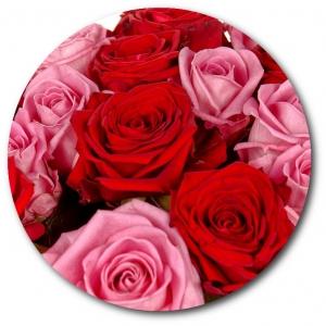 Поштучно розовая и красная роза с доставкой №8