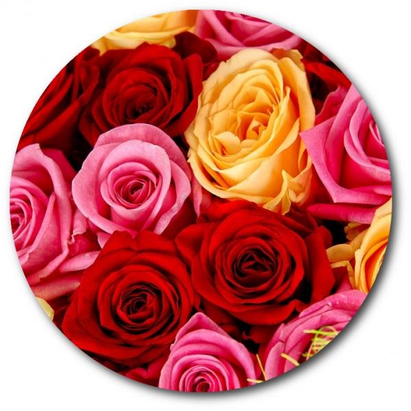 Поштучно розовая, красная и кремовая роза с доставкой №9