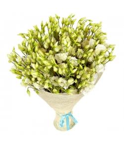 Букет цветов из белого лизиантуса (эустома) (51 шт.) №21 с доставкой.