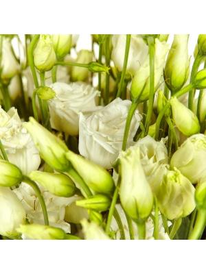 Букет цветов из белого лизиантуса (эустома) (21 шт.) №10 с доставкой.