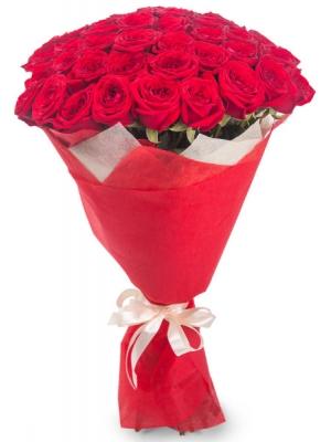 Букет цветов из красных роз №4 (45 шт.) с доставкой.