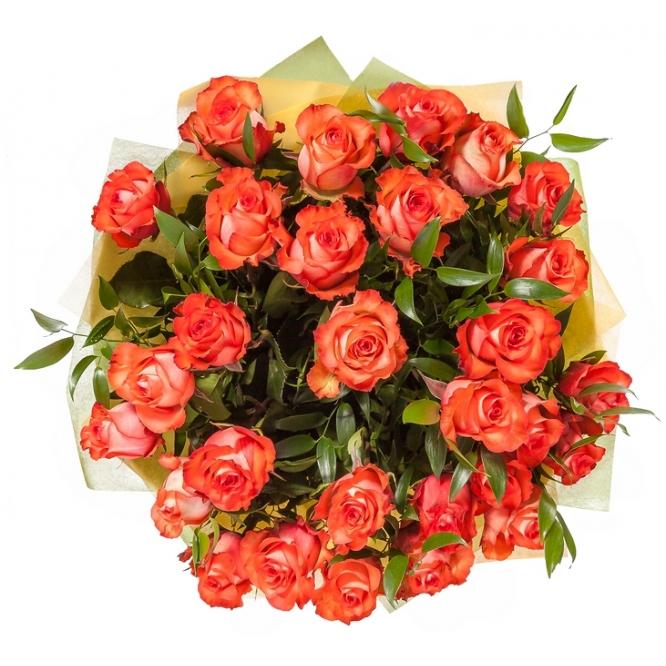 Букет цветов из розовых роз (35 шт.) №101 с доставкой.