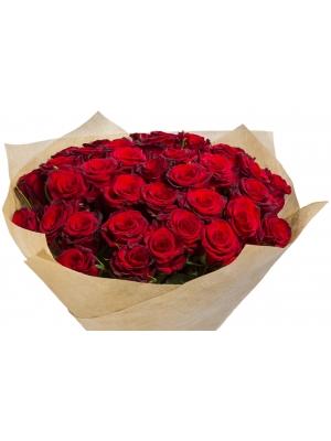 """Букет цветов из красных роз """"Ред Париж"""" (51 шт.) №111 с доставкой."""