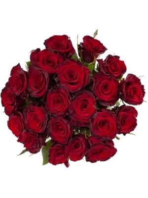 """Букет цветов из красных роз """"Премиум"""" (21 шт.) №112 с доставкой."""