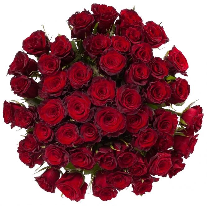 Букет цветов из красных роз (51 шт.) №126 с доставкой.