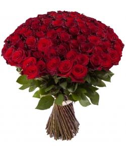 Букет цветов из красных роз (101 шт.) №128 с доставкой.