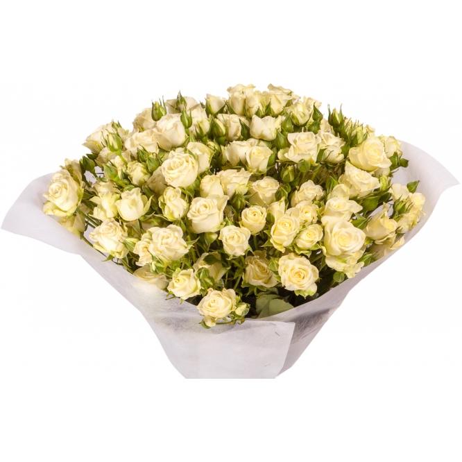 """Букет цветов из кустовых роз """"Сноуфлейк"""" (19 веток) №138 с доставкой."""
