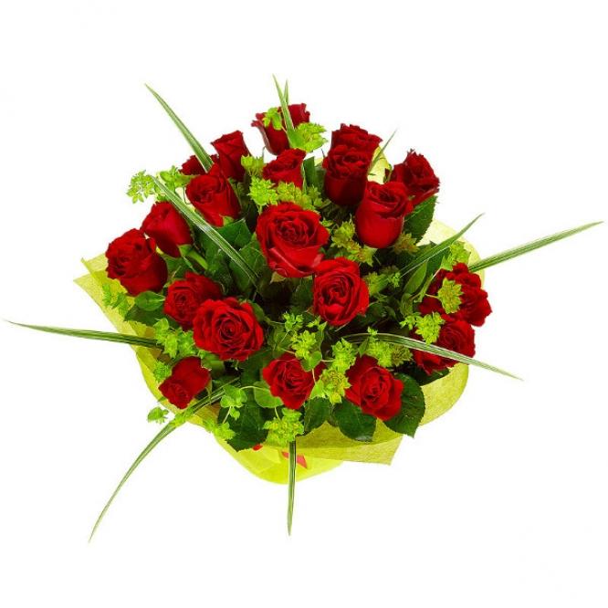 Букет цветов из красных роз №23 (19 шт.) с доставкой.