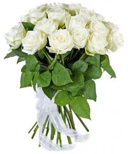 Букет цветов из белых роз №8 (17 шт.) с доставкой.