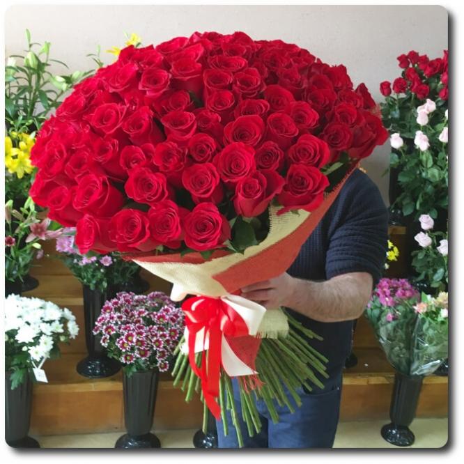Голландские красные метровые (1 метр) розы с доставкой по Киеву.