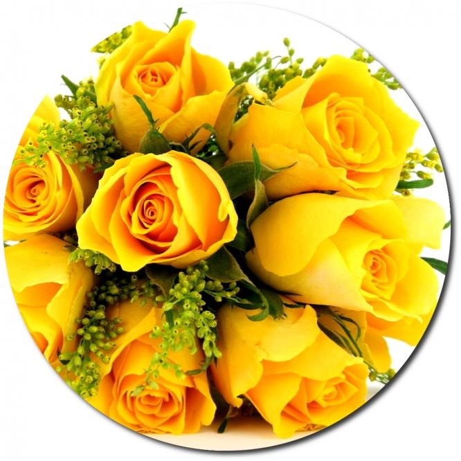 Поштучно желтые розы (экстра класс, 70 сантиметров) с доставкой №10