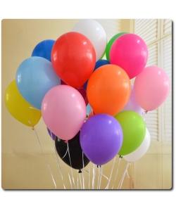 Воздушные разноцветные летающие шарики (25*27 см, 10 штук).