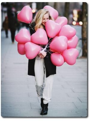 Воздушные розовые летающие шарики в виде сердец (12 дюймов, 10 штук).