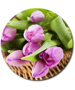 Поштучно светло-фиолетовые тюльпаны с доставкой по Киеву.