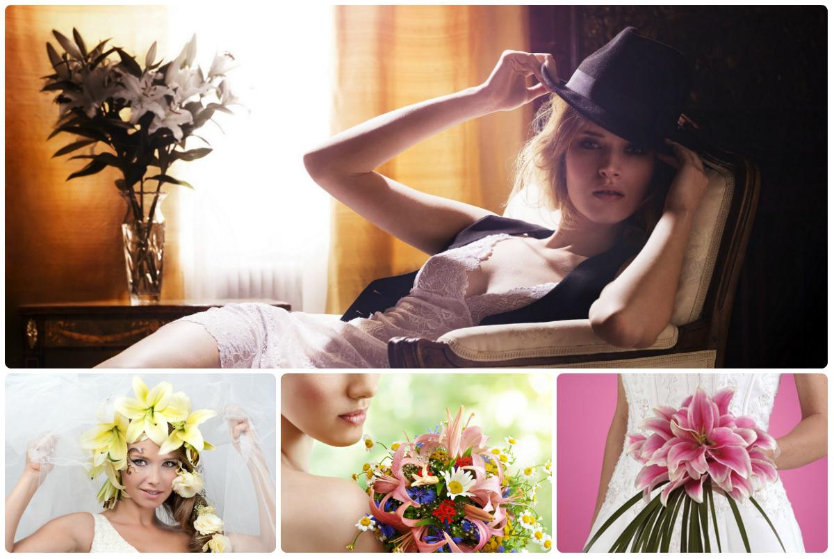 Купить букет лилии в Киеве с доставкой по низкой цене. Купить лилию дешево.