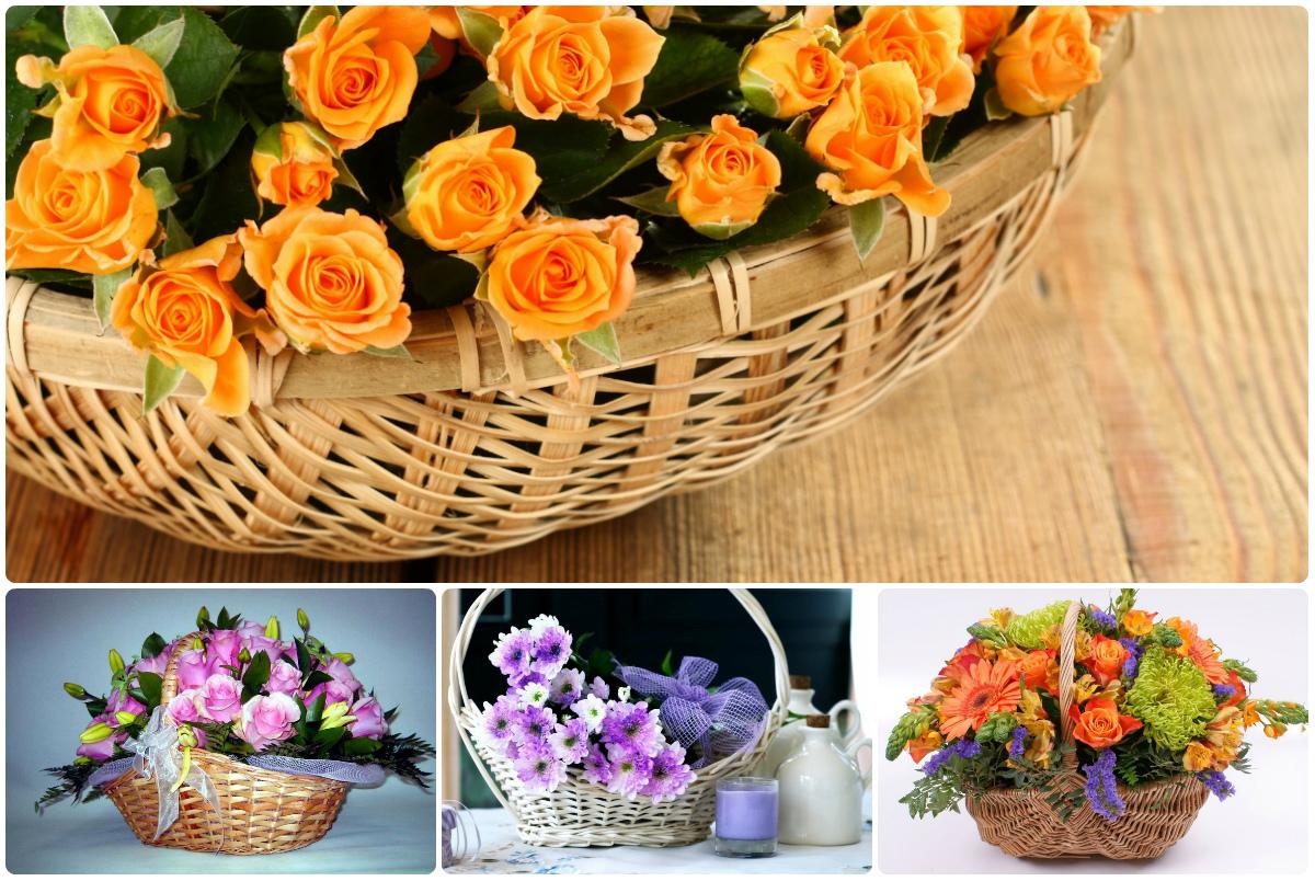 Купить корзину цветов в Киеве с доставкой. Низкая цена.